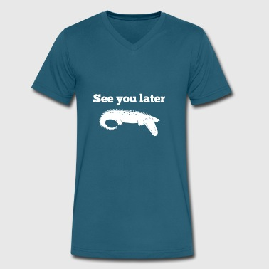 See You Later Alligator See You Later Alligator - Men's V-Neck T-Shirt by Canvas
