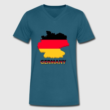 germany - Men's V-Neck T-Shirt by Canvas