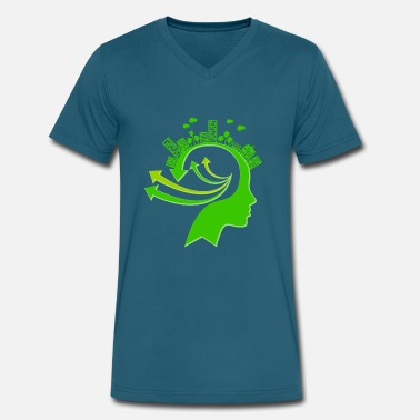 Ecology Ecology Concept Illustration - Men's V-Neck T-Shirt by Canvas