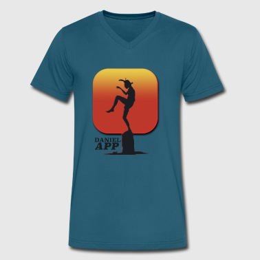 Daniel App 80s T-Shirt - Men's V-Neck T-Shirt by Canvas