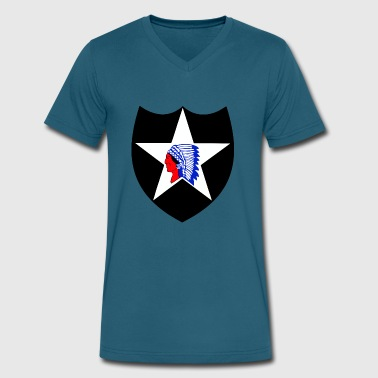 Indian Army Army 2nd Infantry Division Indian head - Men's V-Neck T-Shirt by Canvas