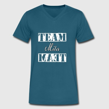Team Mila - Men's V-Neck T-Shirt by Canvas