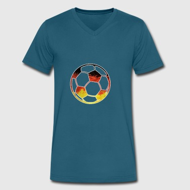 GERMANY SOCCER BALL Germania Balls Flag Worldcup - Men's V-Neck T-Shirt by Canvas