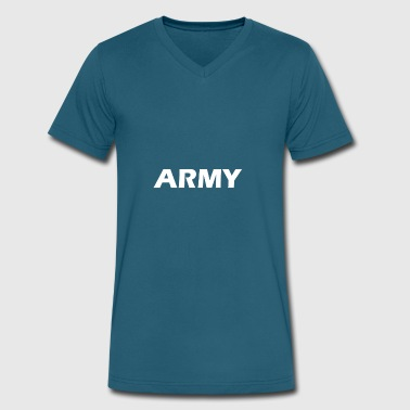 army - Men's V-Neck T-Shirt by Canvas