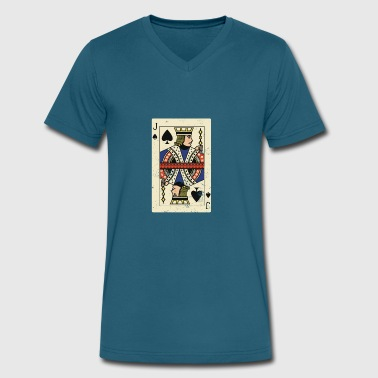 Cool and Trendy Jack Card Design - Men's V-Neck T-Shirt by Canvas