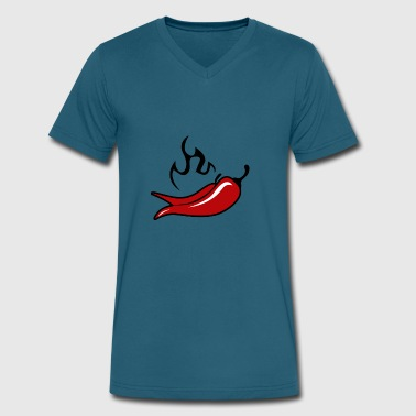 Chili - Men's V-Neck T-Shirt by Canvas