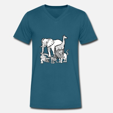 Zoo Animals zoo animals - Men's V-Neck T-Shirt by Canvas