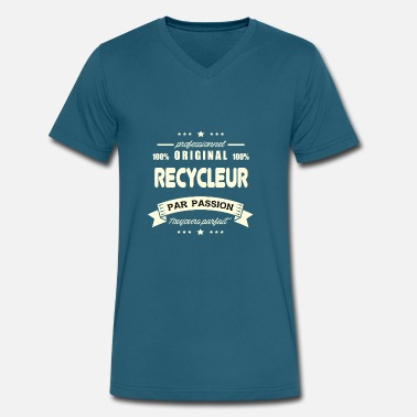 Rebreather Original Recycler - Men's V-Neck T-Shirt by Canvas
