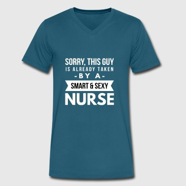 Already taken by a smart sexy Nurse - Men's V-Neck T-Shirt by Canvas