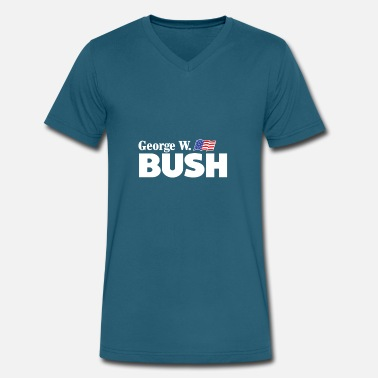 George Bush George W Bush For President - Men's V-Neck T-Shirt by Canvas