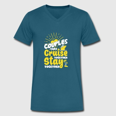 Cruise Funny Couple Couples Cruise Together T Shirt - Men's V-Neck T-Shirt by Canvas