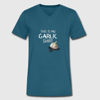 garlic shirt smell food cook vegan onion italia lo - Men's V-Neck T-Shirt by Canvas