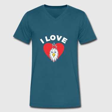 I Love Chicken.. I love chickens - Men's V-Neck T-Shirt by Canvas