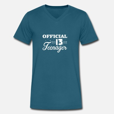 Teenager Official 13 Teenager 13 Year Old Teenager - Men's V-Neck T-Shirt by Canvas