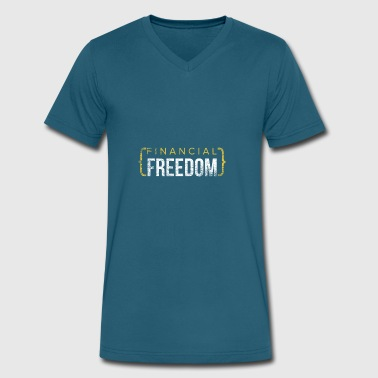 Financial Freedom gift trading money speculation - Men's V-Neck T-Shirt by Canvas