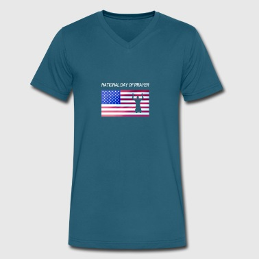 Day Of Prayer And Repentance Apparel for National Day Of Prayer National Day Of - Men's V-Neck T-Shirt by Canvas