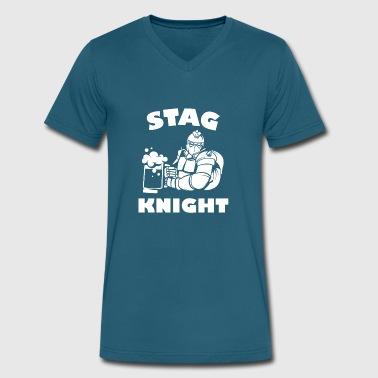 Stag Night Stag Knight - Men's V-Neck T-Shirt by Canvas