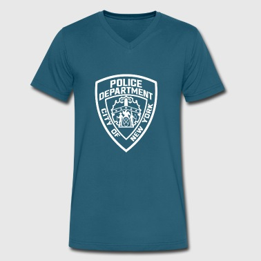 New York Police Department - Men's V-Neck T-Shirt by Canvas