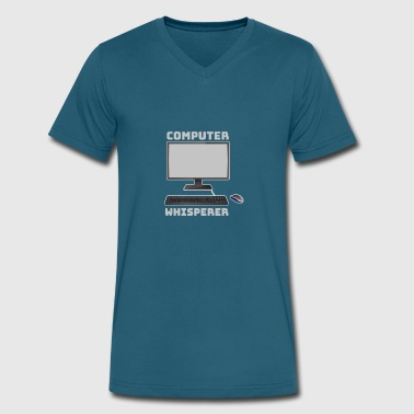 Keyboard-computer-computer Computer Whisperer with Keyboard and Mouse - Men's V-Neck T-Shirt by Canvas