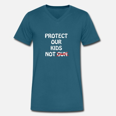 Scope Protect Our Kids Not Gun - Men's V-Neck T-Shirt by Canvas