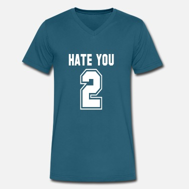 Hate You 2 Hate You 2 - Men's V-Neck T-Shirt by Canvas