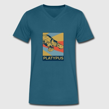 Love Platypus Platypus - Men's V-Neck T-Shirt by Canvas