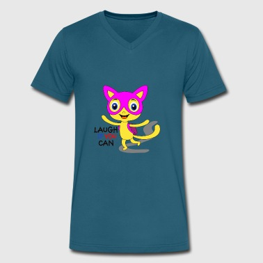 Whos Laughing Meow laugh if you can - Men's V-Neck T-Shirt by Canvas
