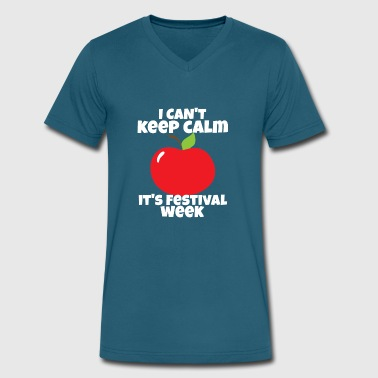 Apple Festival I Can't Keep Calm It's Festival Week - Men's V-Neck T-Shirt by Canvas