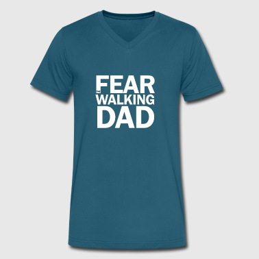 Fear Walk Fear the walking dad - Men's V-Neck T-Shirt by Canvas