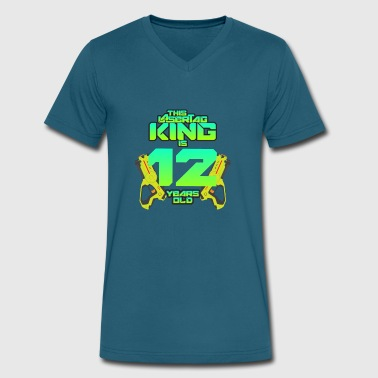 Lasertag - This King Is 12 Years Old - Men's V-Neck T-Shirt by Canvas
