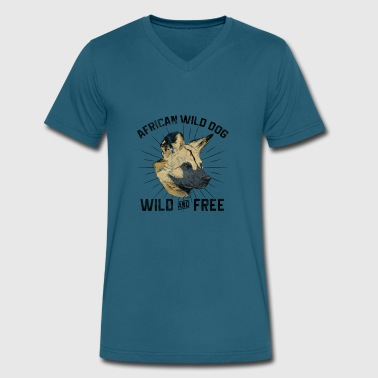 Dogs Grudge - African Wild Dog - Men's V-Neck T-Shirt by Canvas