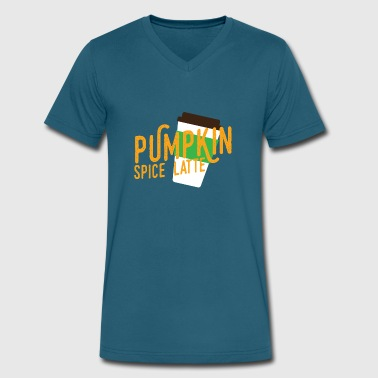 Pumpkin Spice Latte Pumpkin Spice Latte Halloween - Men's V-Neck T-Shirt by Canvas