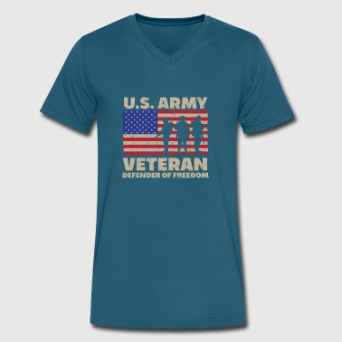 Veteran Pride Veterans Day - US Army Veteran - Men's V-Neck T-Shirt by Canvas