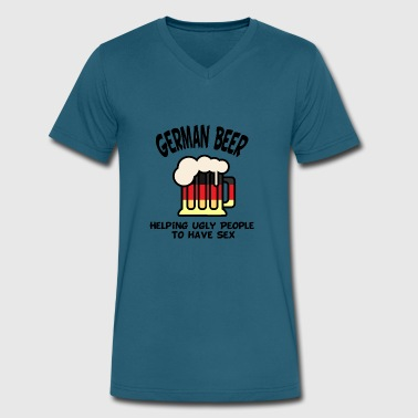 German Beer German beer helps - Men's V-Neck T-Shirt by Canvas