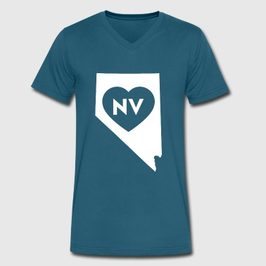 I Love Nevada State - Men's V-Neck T-Shirt by Canvas