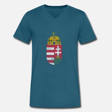 Arms Hungarian Coat of Arms Hungary Symbol - Men's V-Neck T-Shirt by Canvas