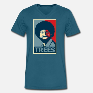 Ross the Tree - Men's V-Neck T-Shirt by Canvas