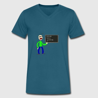 Baldy baldi fan art by smiledeadlol dccr3ka - Men's V-Neck T-Shirt by Canvas