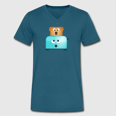 Toast O Faces Toaster - Men's V-Neck T-Shirt by Canvas