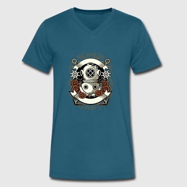 Diver Designs Diver - Men's V-Neck T-Shirt by Canvas
