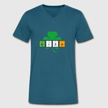 Cloverleaf Irish cloverleaf chemical element Uz37b - Men's V-Neck T-Shirt by Canvas