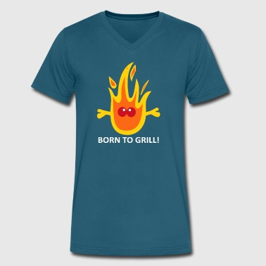 Born to Grill - Men's V-Neck T-Shirt by Canvas