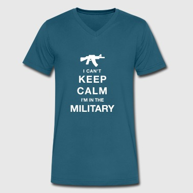 Veterans Of Foreign Wars Keep calm military - Men's V-Neck T-Shirt by Canvas