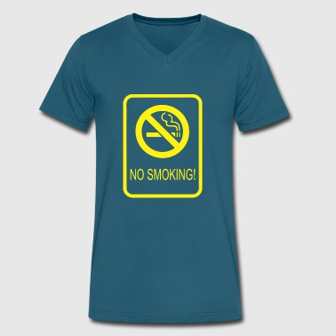No Smoking - Men's V-Neck T-Shirt by Canvas