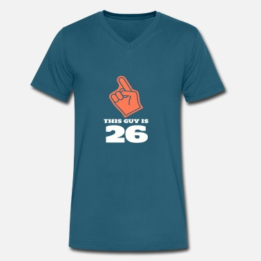 Funny %26 %26 %26 This Guy Is 26 - Men's V-Neck T-Shirt by Canvas