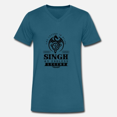 Singh SINGH - Men's V-Neck T-Shirt by Canvas
