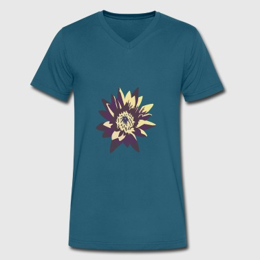 Lotus Cars Vintage Lotus Flower - Men's V-Neck T-Shirt by Canvas