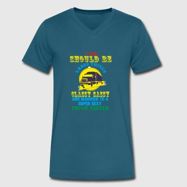 Drivers Apparel Truck Driver T shirt and Apparel Limited Edition ! - Men's V-Neck T-Shirt by Canvas