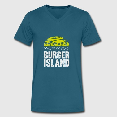 Food And Wine Festival Burger Island - Tasty Festival Bar And Beer Food - Men's V-Neck T-Shirt by Canvas