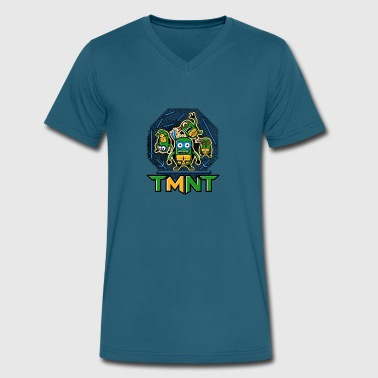 Ninja Minnion - Men's V-Neck T-Shirt by Canvas
